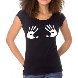 T-Shirts - MÃOS COM TINTA