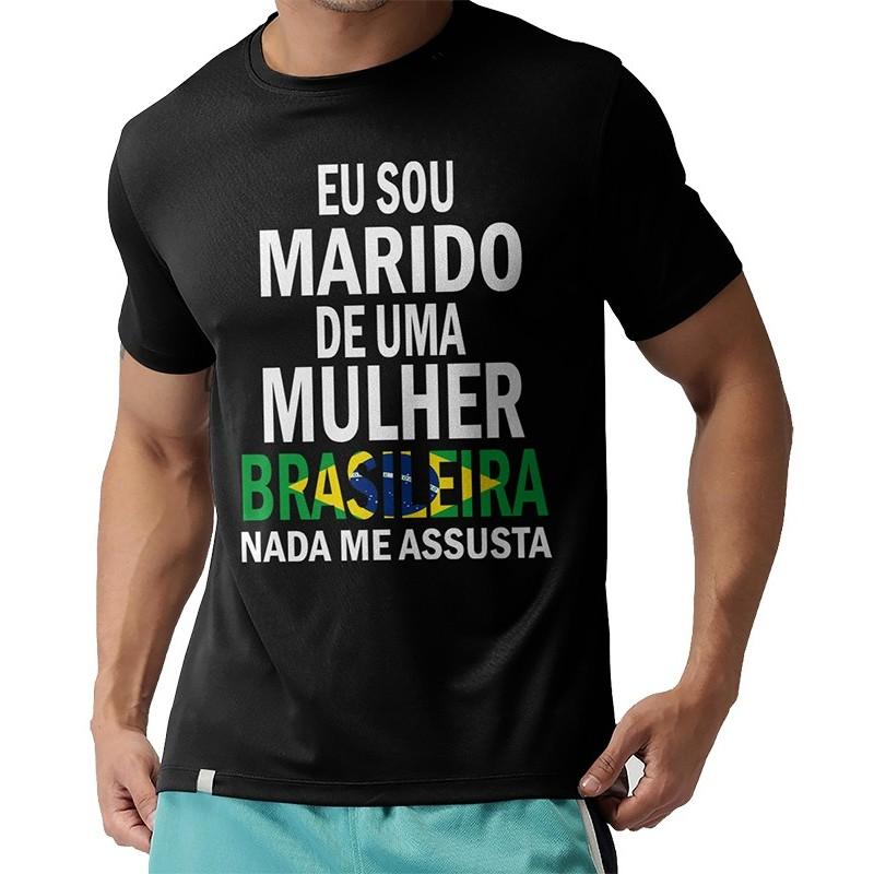 T-Shirts - SOU MARIDO DE UMA BRASILEIRA
